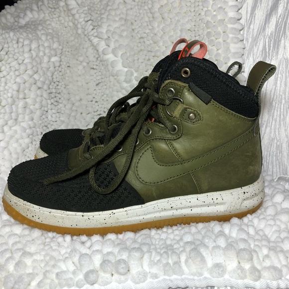 Nike Lunar Force 1 Duckboot sz 9.5 Green & Black